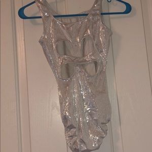 Sparkly gymnastics leotard!